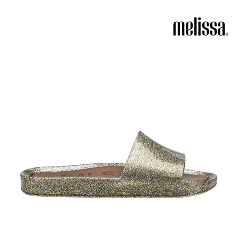 (MELISSA) BEACH SLIDE SHINE AD_MIXED GOLD GLITTER