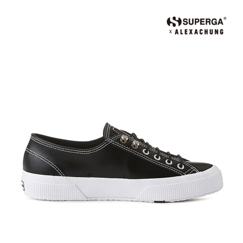 (SUPERGA) 2748-LEABRUSHW_BLACK